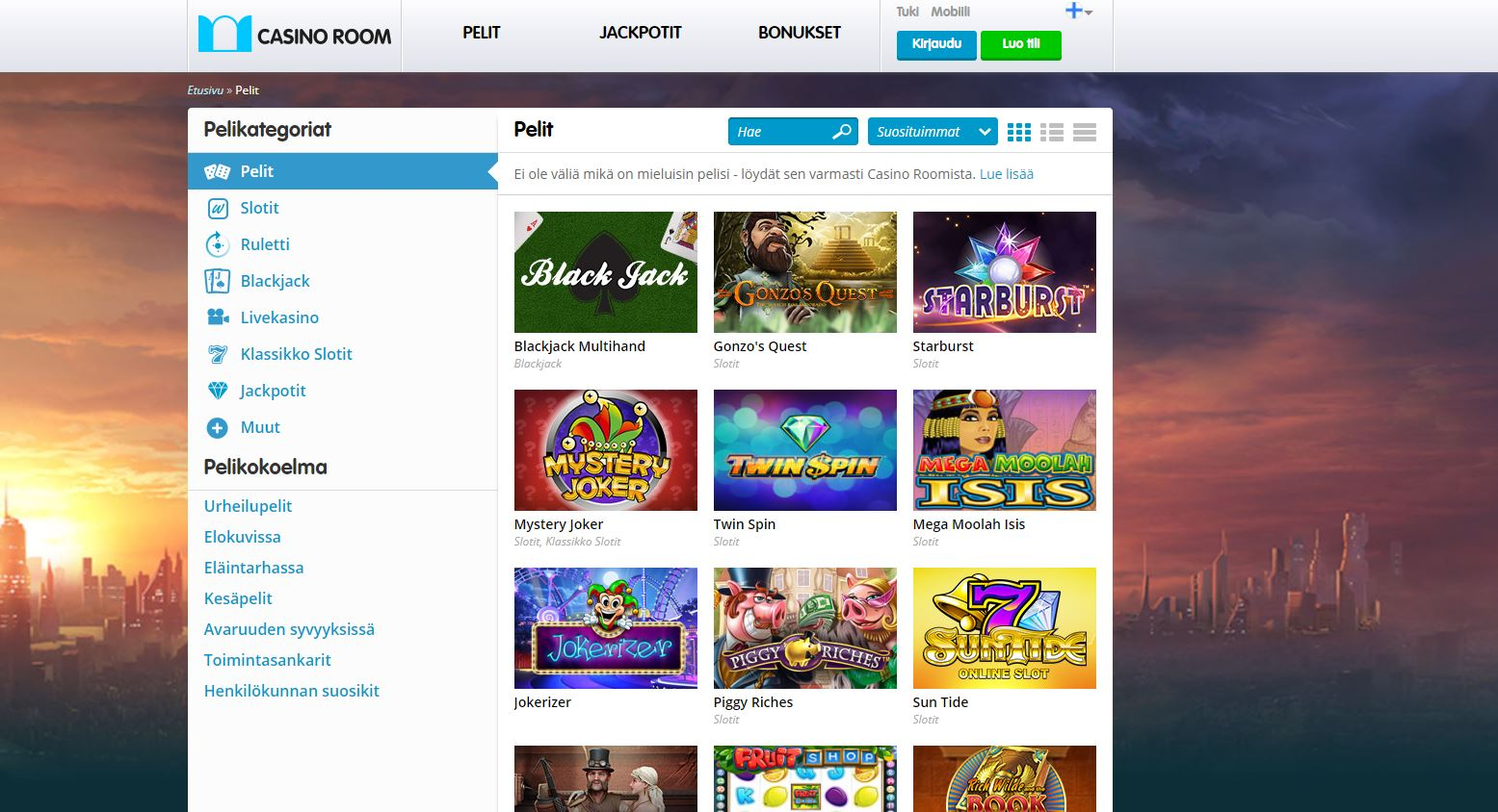 casino room ilmaista pelirahaa