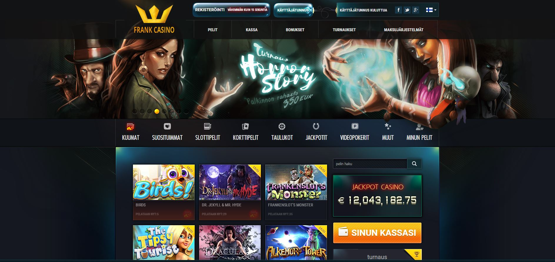 официальный сайт франк казино мобильная версия
