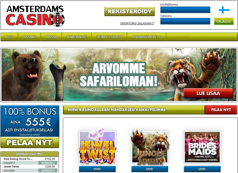 Amsterdam Casino on mielenkiintoinen nettikasino, jossa on hyvä tervetuliaisbonus.
