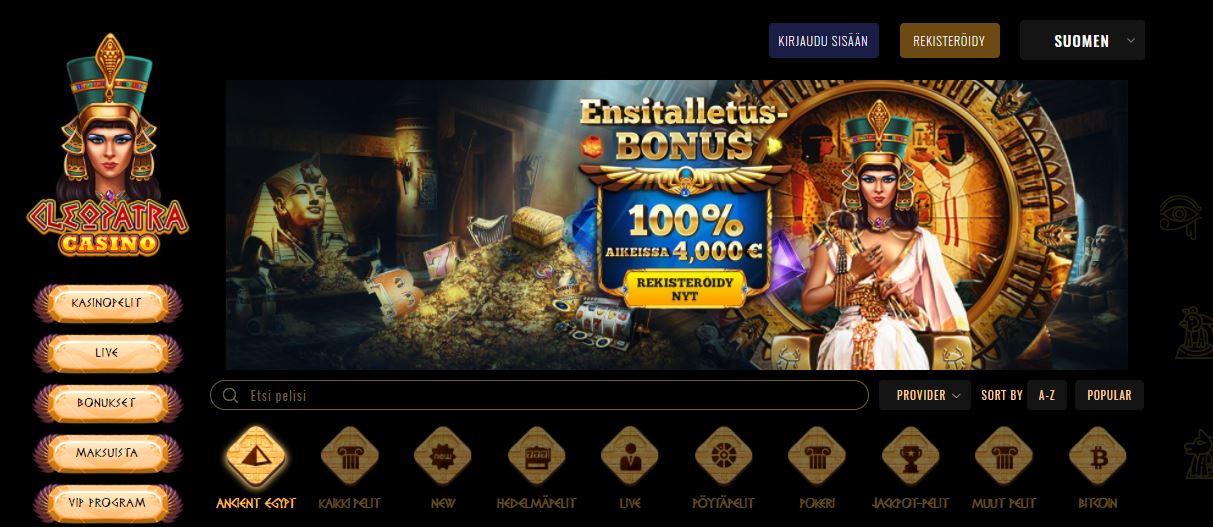 Cleopatra Casino 100% bonus